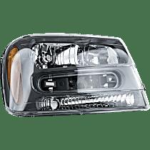 Passenger Side Headlight, 2002-09 Trailblazer / 2002-06 Trailblazer EXT, (Except Models: 2006-09 LT / 2008 LS)