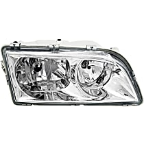 Headlight - Passenger Side, 2000-2004 Style, Chrome Trim, With Bulb(s)