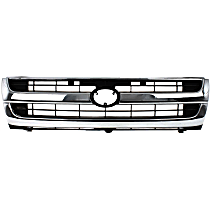 Grille Assembly - Chrome Shell with Painted Black Insert, RWD
