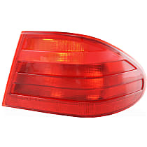 Passenger Side, Outer Tail Light, Without bulb(s) - Red Lens, Exc. Wagon, (210) Chassis