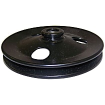 Crown 4612242 Power Steering Pump Pulley - Black, Metal, Direct Fit, Sold individually