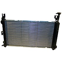 Aluminum Core Plastic Tank Radiator, 25.63 x 15 x 1 in. Core Size