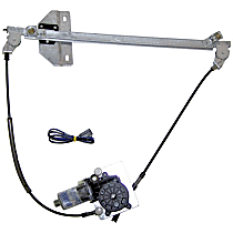 4673513 Front, Driver Side Power Window Regulator, With Motor