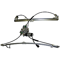 4675587AB Front, Driver Side Power Window Regulator, With Motor