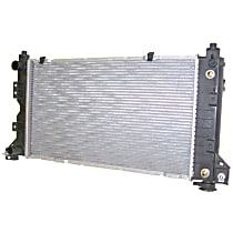 Aluminum Core Plastic Tank Radiator, 25.81 x 14.63 x 1.25 in. Core Size