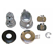 Door Lock Cylinder - Chrome, Direct Fit, Sold individually
