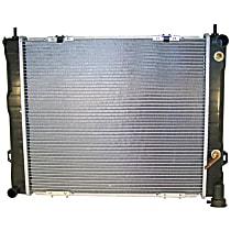 Aluminum Core Plastic Tank Radiator, 22-1/8 x 19-3/8 Core Size