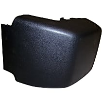 Crown Bumper Guard - 4741102 - Front, Passenger Side, Black, Plastic, Direct Fit, Sold individually