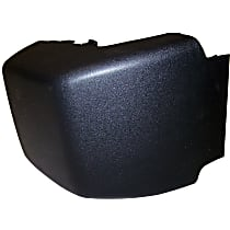 Crown Bumper Guard - 4741103 - Front, Driver Side, Black, Plastic, Direct Fit, Sold individually