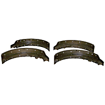 4761600 Brake Shoe Set - Semi-Metallic and Metal, Direct Fit, Kit