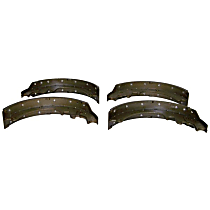 Crown 4761600 Brake Shoe Set - Semi-Metallic and Metal, Direct Fit, Kit