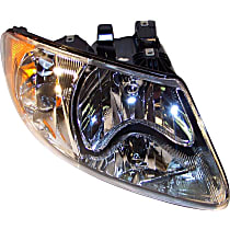 Passenger Side Headlight, With bulb(s)