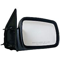 4883018 Passenger Side Non-Heated Mirror - Manual Glass, Manual Folding, Black