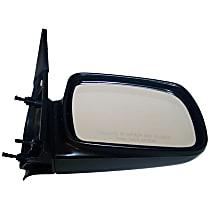 4883019 Driver Side Non-Heated Mirror - Manual Glass, Manual Folding, Black