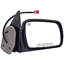 Passenger Side Heated Mirror - Power Glass, Power Folding, Without Signal Light, Without memory, Black