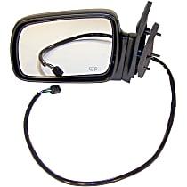 4883023 Driver Side Heated Mirror - Power Glass, Power Folding, Black