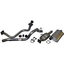 Crown - 1987-1992 Jeep Wrangler (YJ) Manifold-Back Exhaust System - Made of Aluminized Steel