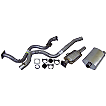 Crown - 1991-1992 Jeep Wrangler (YJ) Cat-Back Exhaust System - Made of Aluminized Steel