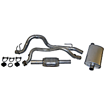 Crown - 1993-1995 Jeep Wrangler (YJ) Cat-Back Exhaust System - Made of Aluminized Steel