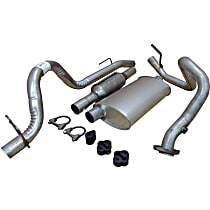 Crown - 1993-1995 Jeep Wrangler (YJ) Manifold-Back Exhaust System - Made of Aluminized Steel