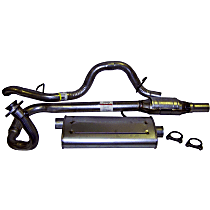 Crown - 1997-2000 Jeep Wrangler (TJ) Cat-Back Exhaust System - Made of Aluminized Steel