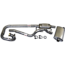 Crown - 1997-1999 Jeep Wrangler (TJ) Cat-Back Exhaust System - Made of Aluminized Steel