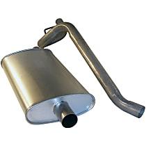 Crown 52019138 Muffler & Tailpipe - Silver, Metal, Direct Fit