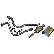 Crown - 1987-1990 Jeep Wrangler (YJ) Cat-Back Exhaust System - Made of Aluminized Steel