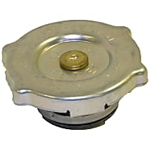52079880AA Radiator Cap - Round, 16 lbs., Polished, Steel, Sold individually