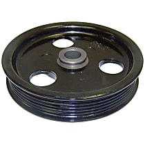 53010258AB Power Steering Pump Pulley - Black, Metal, Direct Fit, Sold individually