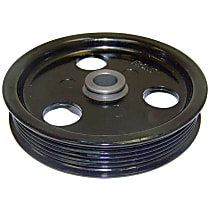 Crown 53010258AB Power Steering Pump Pulley - Black, Metal, Direct Fit, Sold individually