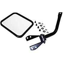 Driver Side Mirror - Manual Glass,, Black