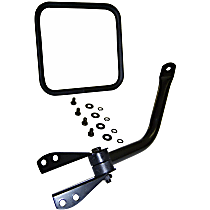 Passenger Side Mirror - Manual Glass,, Black