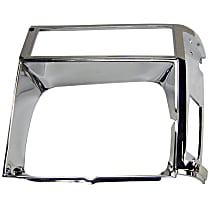 55002244 Headlight Bezel - Chrome, Direct Fit, Sold individually