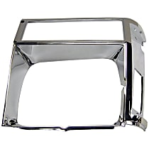 Crown 55002244 Headlight Bezel - Chrome, Direct Fit, Sold individually