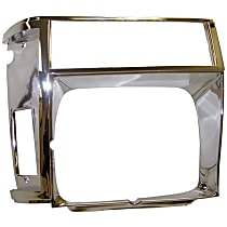 55002245 Headlight Bezel - Chrome, Direct Fit, Sold individually