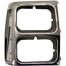55008046 Headlight Bezel - Black and chrome, Direct Fit, Sold individually