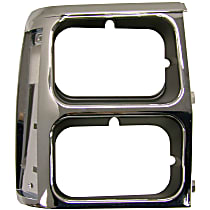 Crown 55008046 Headlight Bezel - Black and chrome, Direct Fit, Sold individually