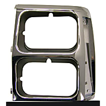 55008047 Headlight Bezel - Black and chrome, Direct Fit, Sold individually