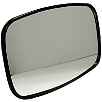 Crown 55012573 Mirror Head - Black, Plastic and Glass, Direct Fit