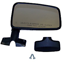 55016210 Passenger Side Non-Heated Mirror - Manual Glass, Without Signal Light, Black