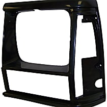 Crown 55034075 Headlight Bezel - Black, Direct Fit, Sold individually