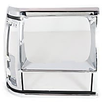 55034078 Headlight Bezel - Black and chrome, Direct Fit, Sold individually