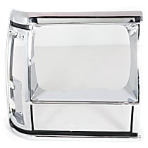 Crown 55034078 Headlight Bezel - Black and chrome, Direct Fit, Sold individually