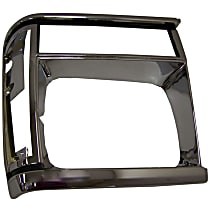 Crown 55034079 Headlight Bezel - Black and chrome, Direct Fit, Sold individually