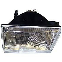 Driver Side Headlight, Without bulb(s)
