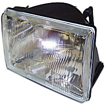 Passenger Side Headlight, Without bulb(s)