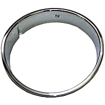 Crown 55055047 Headlight Bezel - Chrome, Direct Fit, Sold individually