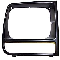 55055136 Headlight Bezel - Black, Direct Fit, Sold individually