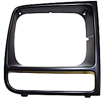 Crown 55055136 Headlight Bezel - Black, Direct Fit, Sold individually